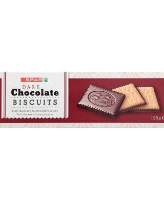 SPAR Chocolate Biscuits dark 125g
