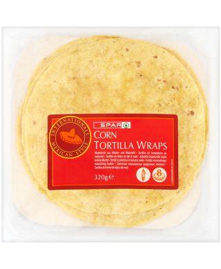 SPAR Corn Tortilla Wraps 320g