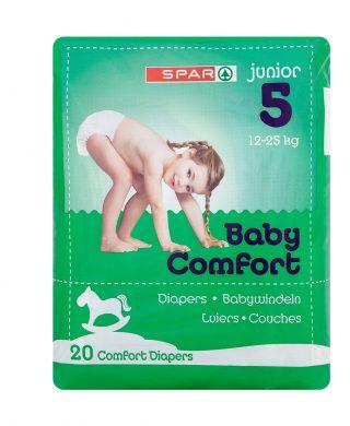 SPAR Diapers Junior 12-25 Kg Size 5, 20 pcs