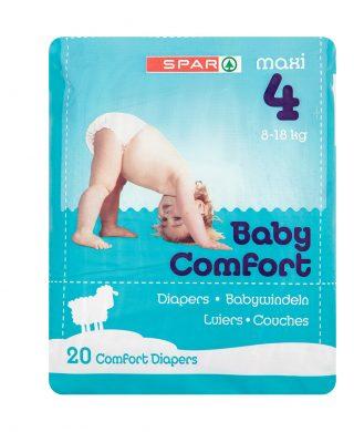 SPAR Diapers Maxi 8-18 Kg Size 4, 20 pcs