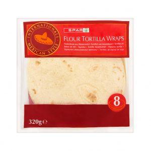 SPAR Flour Tortilla Wraps 320g