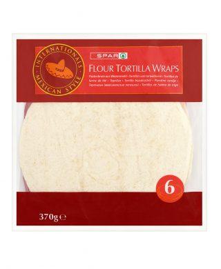 SPAR Flour Tortilla Wraps 370g
