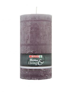 SPAR Pillar candle 130mm grey 1 pcs