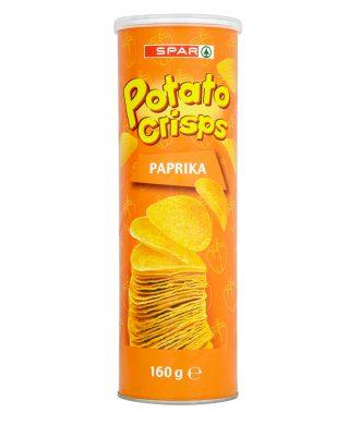 SPAR Potato Crisps Paprika 170g