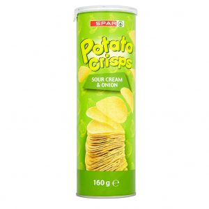 SPAR Potato Crisps Sour Cream Onion 170g
