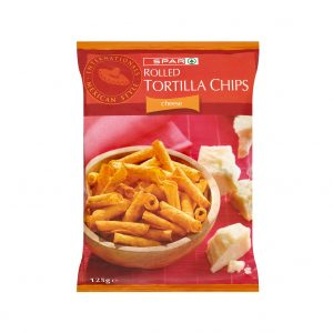 SPAR Rolled Tortilla Chips Cheese 125g