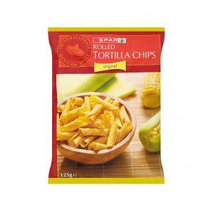SPAR Rolled Tortilla Chips Natural 125g
