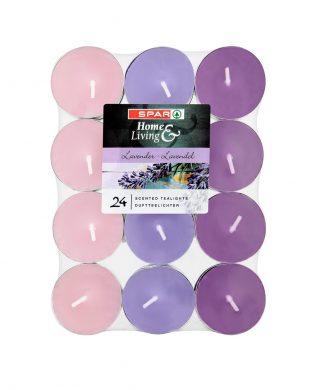 SPAR Scented Tealights Lavender 24 pcs