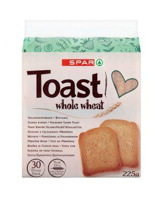 SPAR Toast Whole Wheat 225g