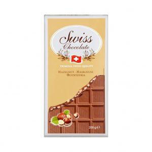 Swiss Milk Chocolate Hazelnut tablets 200 gr