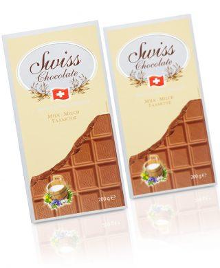 Swiss Milk Chocolate tablets 200 gr