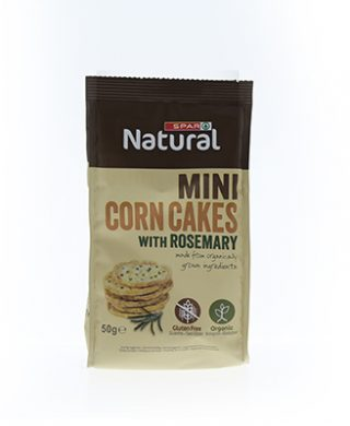 SPAR Natural Organic Mini Corn Cakes with Rosemary