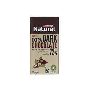 SPAR Natural Organic Chocolate Bar Dark 72%
