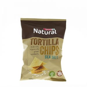 SPAR Natural Organic Tortilla Chips 125g